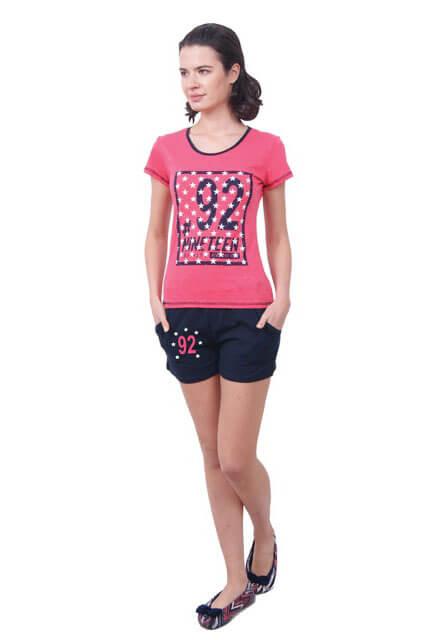 Пижама женская шорты Nicoletta 80656