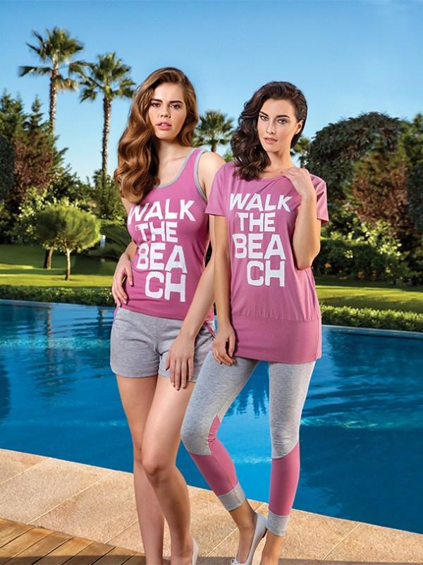 Пижама женская шорты BRK 2895 L-XL