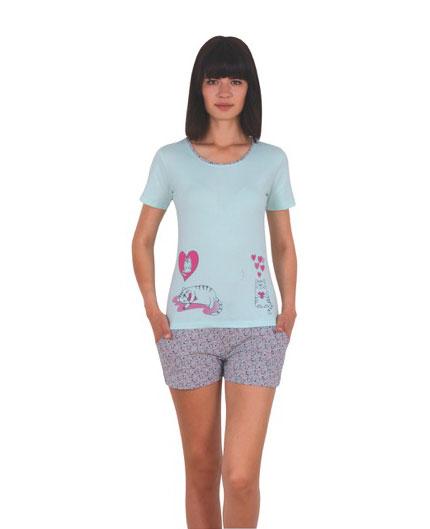 Пижама женская шорты NICOLETTA 80735