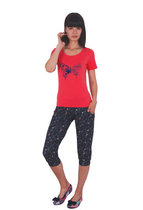 Пижама женская капри NICOLETTA 82384
