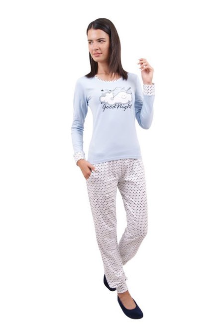 Пижама женская брюки NICOLETTA 86694