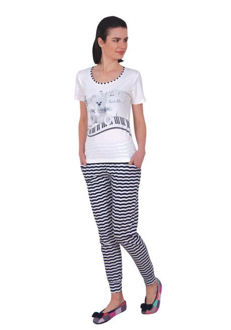 Пижама женская брюки NICOLETTA 86806