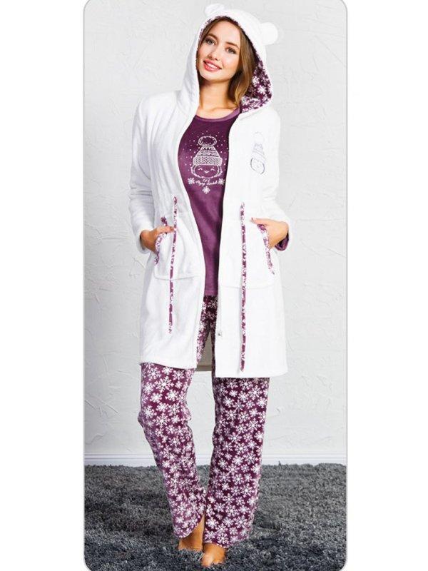 Пижама женская брюки 3-ка SNK-707 3452