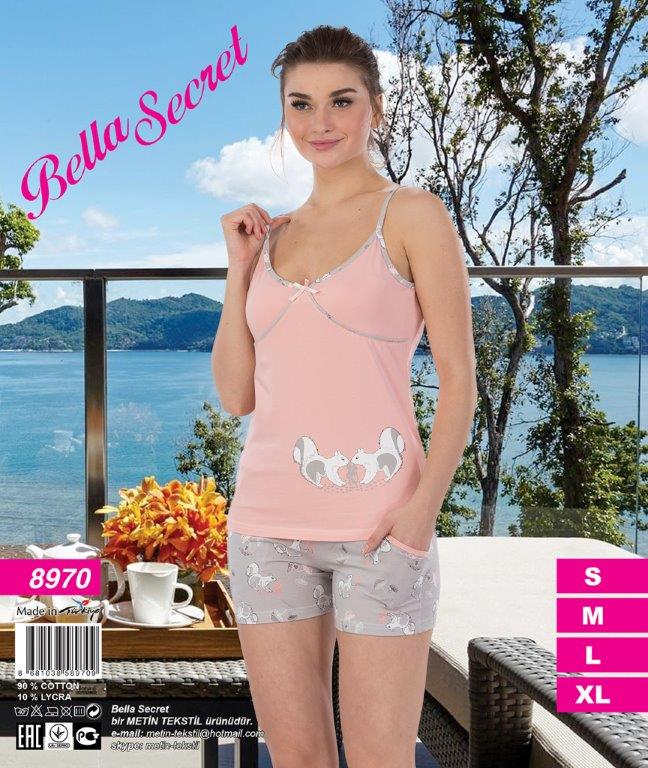 Пижама женская шорты Metin 8970