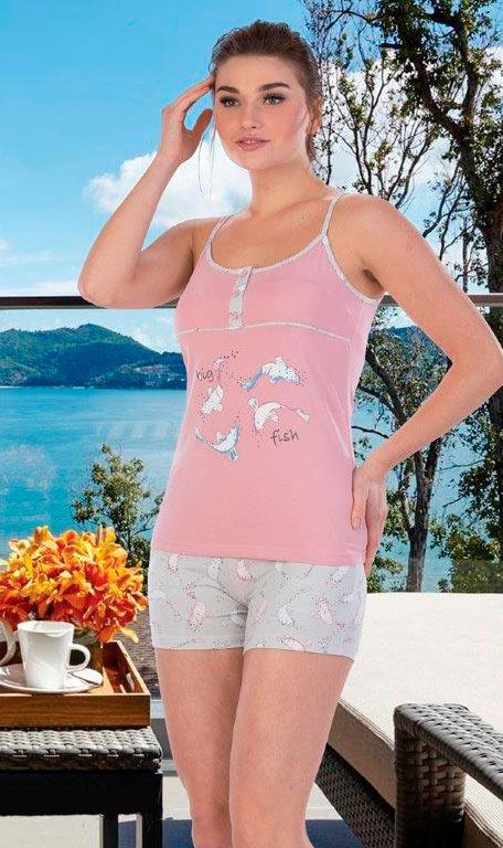 Пижама женская шорты лямка