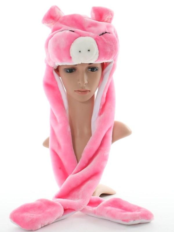 Шапка Pink pig SofiSoft long