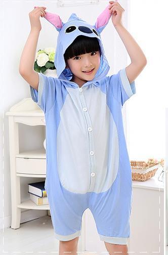 Кигуруми Детский Стич голубой Лето 140