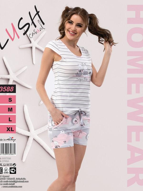 Пижама женская Шорты LUSH 3588