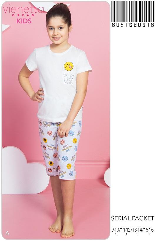 Пижама детская капри 8091620518
