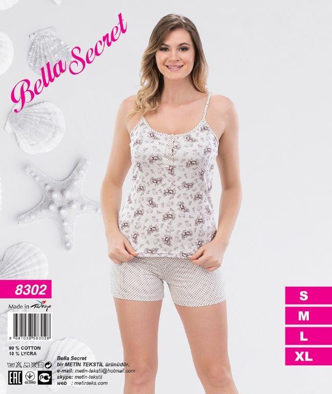 Пижама женская Шорты Metin 8302