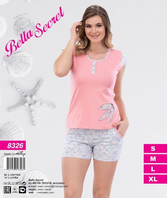 Пижама женская Шорты Metin 8326