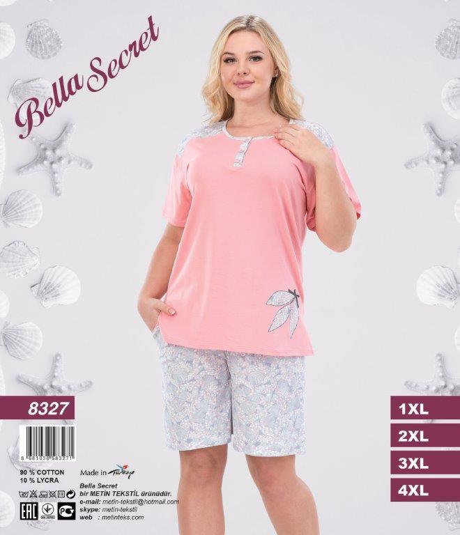 Пижама женская Шорты Metin 8327