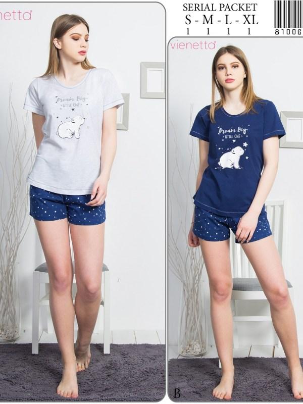 Пижама женская шорты 8100642807