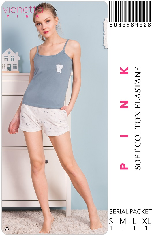 Пижама женская шорты 8092984338