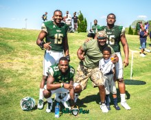 157 - USF Spring Game 2018 - USF DE Vincent Jackson Mazzi Wilkins Juwuan Brown by Dennis Akers | SoFloBulls.com (4459x3567)
