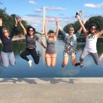 Washington Monument Girls Jump Photo - USF vs Maryland DC
