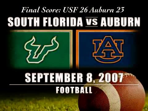 Historic Wins - 2007 Auburn OT Thriller   by Matthew Manuri   SoFloBulls.com  