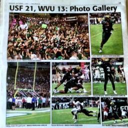 2007: USF vs. WVU | Final Score: USF 21, #5 WVU 13 |