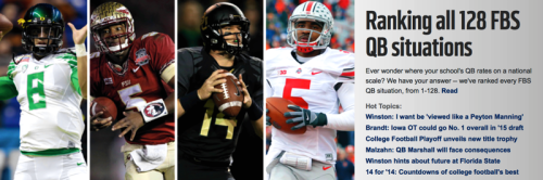 NFL.com: Bulls QB Situation Rated 99th Nationally