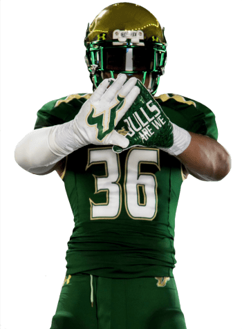 USF DB Nate Godwin in new Bulls Football Uniforms 2014 III ALPHA'D