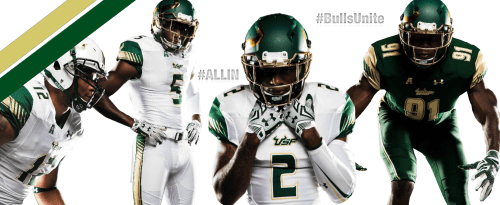 #BullsUnite New 2015 USF Football Uniforms Facebook Cover Photo VoodooFive CLEAN by Matthew Manuri (3568x1462)