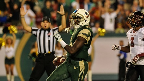 College Football's Best Weeknight Games of 2016-#7 USF vs. Temple SoFloBulls.com (466x261)