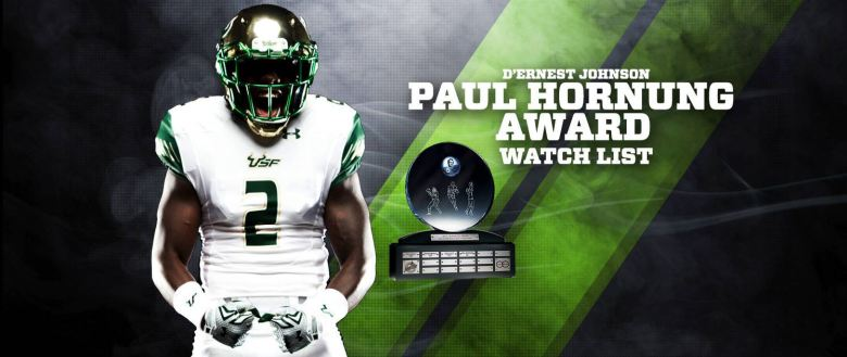 USF RB D'Ernest Johnson Named to 2016 Paul Hornung Award Watchlist HD (1495x631)