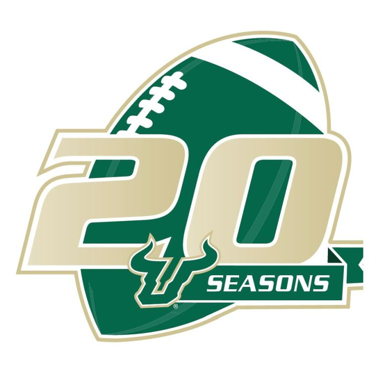 2016 USF Football 20 Seasons Logo HD (937x903)