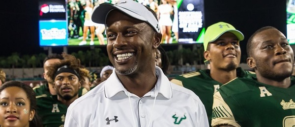 USF Head Coach Willie Taggart Post-game NIU 2016 (600x260)
