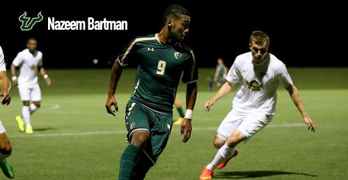USF Men's Soccer Nazeem Bartman 2016 by Matthew Manuri | SoFloBulls.com (500x260)
