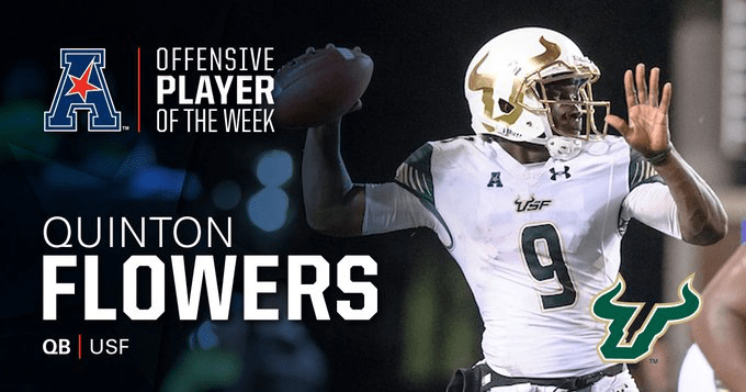 USF QB Quinton Flowers Wins AAC Offensive Player of the Week 2 (680x357)