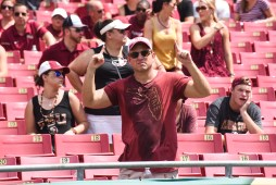 FSU vs USF 2016 79 - Florida State Fan drenched in sweat by Dennis Akers (4512x3008)