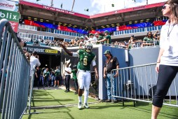 20 USF vs ECU 2016 - USF QB Quinton Flowers exiting the tunnel (4512x3008)