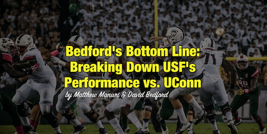 Bedford's Bottom Line-Breaking Down USF's Performance vs. UConn by Matthew Manuri [Photo by Dennis Akers] FI (523x263)