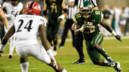 USF RB D'Ernest Johnson's Excellent Catch vs Cincinnati Highlight 2015 AI (525x295)