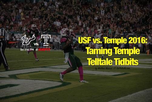 USF vs. Temple 2016-Taming Temple Telltale Tidbits by Matthew Manuri   SoFloBulls.com (6016x4016)