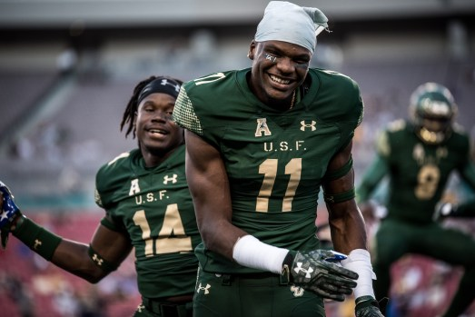 15 - Navy vs. USF 2016 - USF WR Marquez Valdes-Scantling Deangelo Antoine Quinton Flowers by Dennis Akers | SoFloBulls.com (6016x4016)