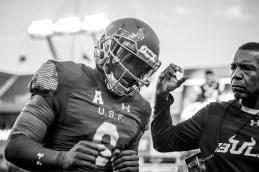 17 - Navy vs. USF 2016 - USF QB Quinton Flowers and David Kelly by Dennis Akers | SoFloBulls.com (5521x3686)