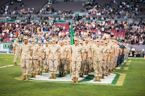 20 - Navy vs. USF 2016 - Military National Anthem Flags Soldiers by Dennis Akers | SoFloBulls.com (5929x3958)