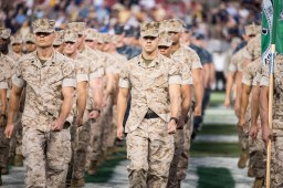 23 - Navy vs. USF 2016 - Military National Anthem Soldiers on Field by Dennis Akers   SoFloBulls.com (6016x4016)