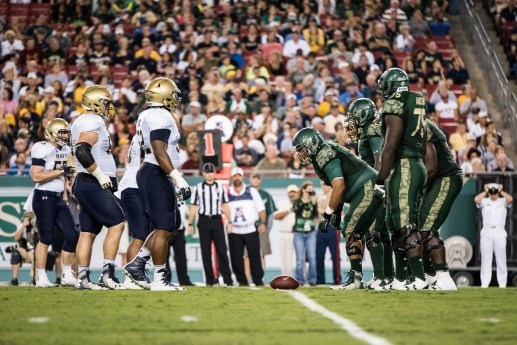 58 - Navy vs. USF 2016 - USF OL vs. Navy DL by Dennis Akers | SoFloBulls.com (4469x2983)