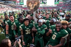 104 - USF vs. UCF 2016 - USF Head Coach Willie Taggart Nate Godwin Deangelo Antoine Tyre McCants #WarOnI4 Trophy by Dennis Akers | SoFloBulls.com (6016x4016)