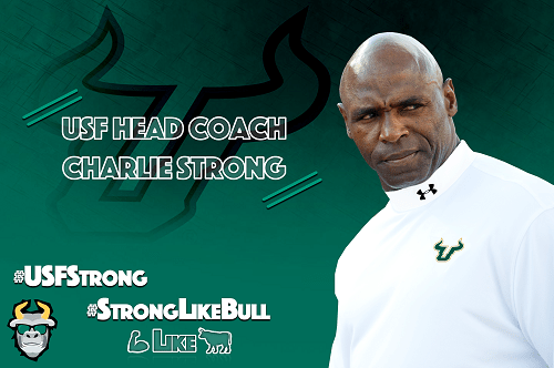 💪 #StrongLikeBull: USF's Home Run Hire in Charlie Strong | SoFloBulls.com