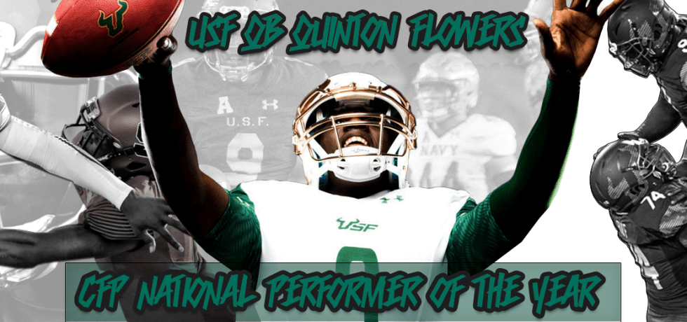 USF QB Quinton Flowers Named 2017 College Football Performance Awards National Performer of the Year Featured Image (1920x520)