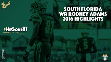 #HeGone87 South Florida WR Rodney Adams and Marlon Mack Highlights 2016 YouTube Cover Photo WEB by Matthew Manuri | SoFloBulls.com (1920x1080)