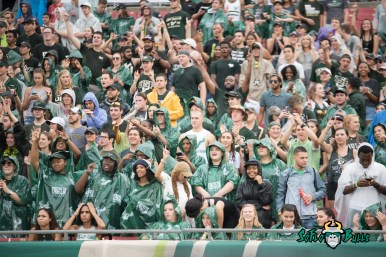 15 - Stony Brook vs. USF 2017 - USF Fans in Sporting Ponchos by Dennis Akers | SoFloBulls.com (6016x4016)