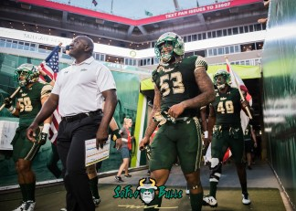 20 - Temple vs. USF 2017 - USF LB Danny Thomas Exiting Tunnel by Dennis Akers | SoFloBulls.com (5047x3605)