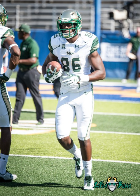 20 - USF vs. San Jose State 2017 - USF WR Stanley Clerveaux by Dennis Akers | SoFloBulls.com (3154x4416)