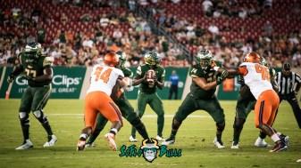 41 - Illinois vs. USF 2017 - USF QB Quinton Flowers Cameron Ruff Marcus Norman by Dennis Akers | SoFloBulls.com (4590x2582)