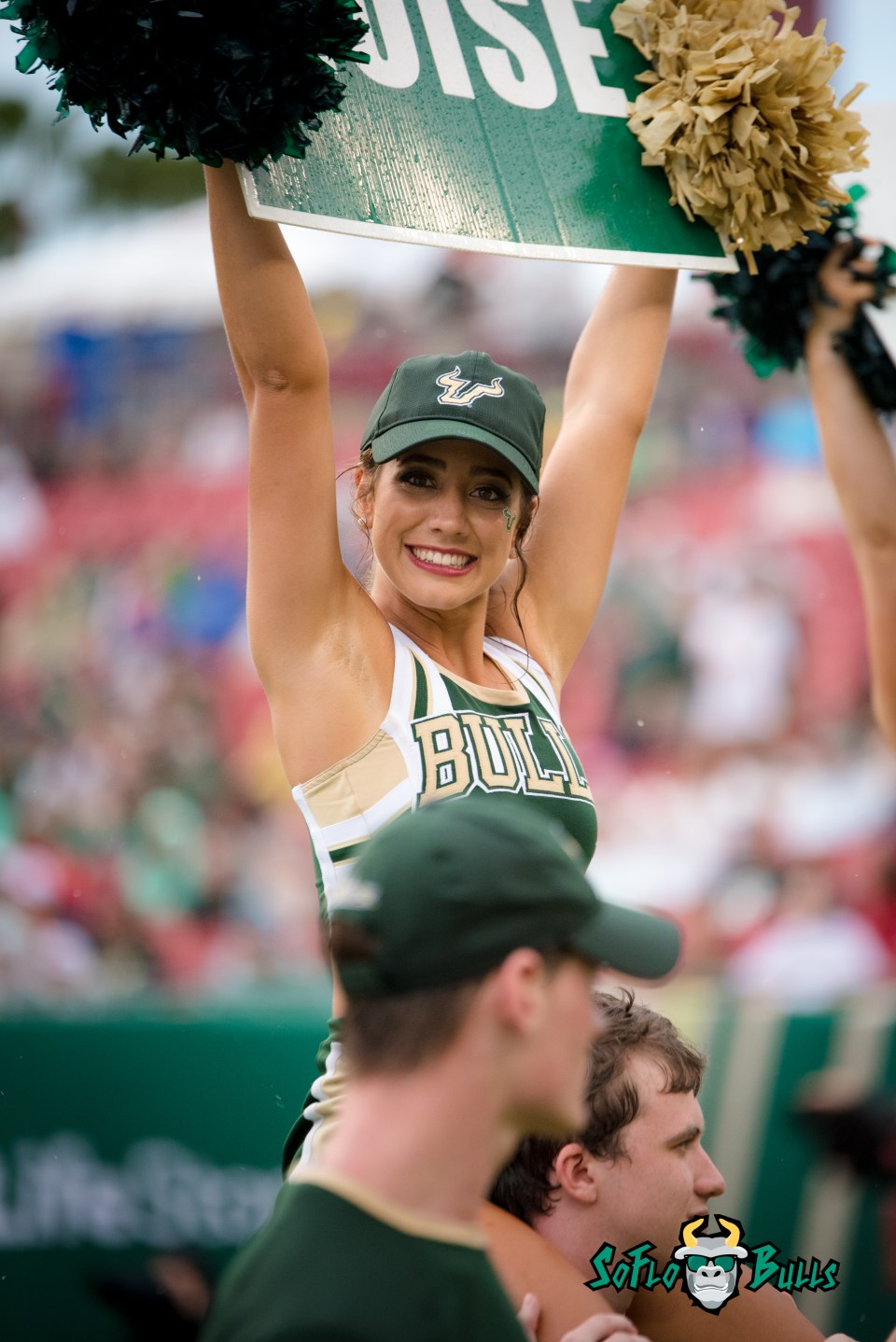 44 - Stony Brook vs. USF 2017 - USF Cheerleader by Dennis Akers | SoFloBulls.com (4016x6016)